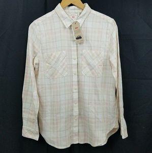 NWT Levi Women's Boyfriend Shirt Small #263090023